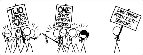 ONE SPACE xkcd