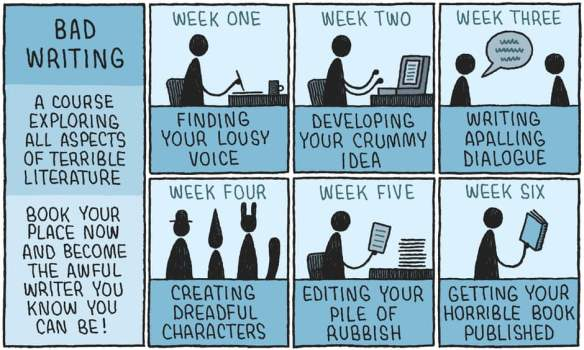 Tom Gauld bad writing